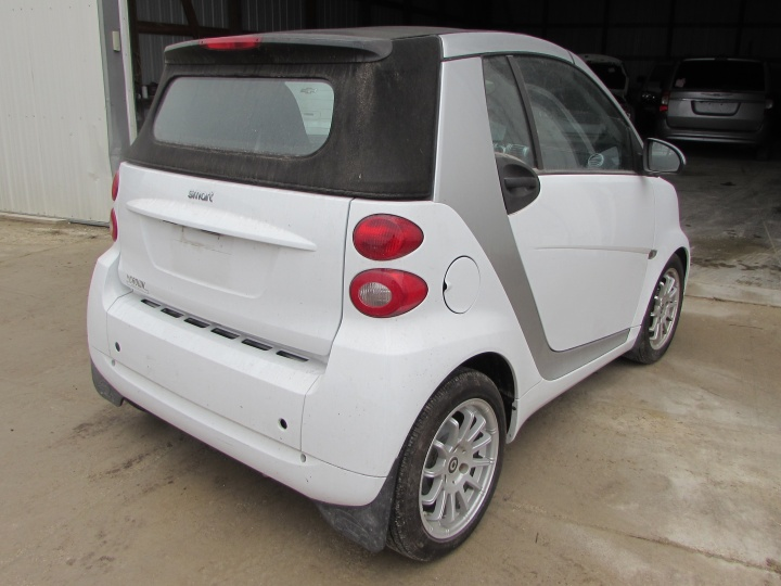 2012 Smart Fortwo Passion Rear Right